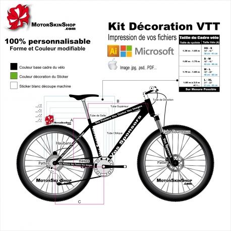 Impression de vos fichiers Kit déco Velo VTT