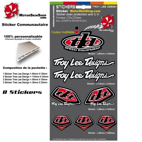Pochette Sticker Troy lee Designs Rouge