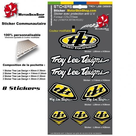 Pochette Sticker Troy lee Designs Jaune