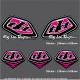 Pochette Sticker Troy lee Designs Rose