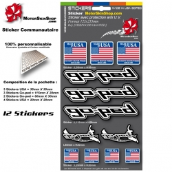 Planche Sticker Made in USA Goped