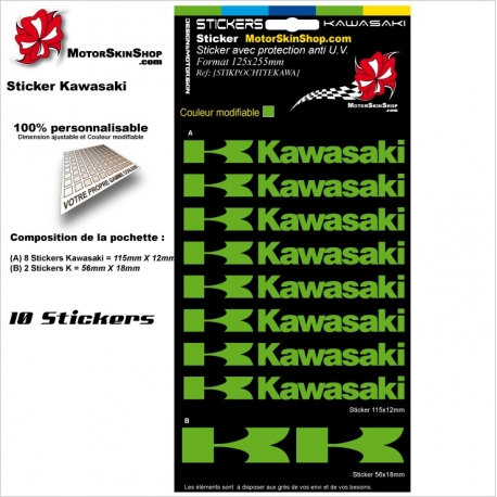 Pochette Sticker Kawasaki