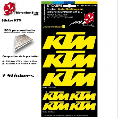 Pochette Sticker KTM