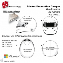 Sticker Impression de vos Fichiers Casque
