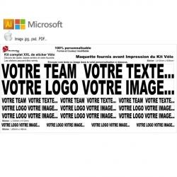 Sticker cadre vélo XXL Kit Personnalisable