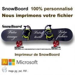 Imprimeur sticker Snowboard votre Fichier