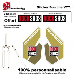 Sticker fourche Rock Shox Revolution Brun
