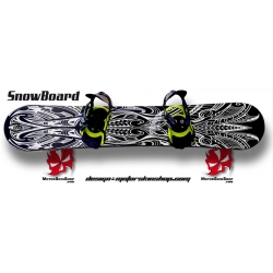 Sticker SnowBoard Maori personnalisable