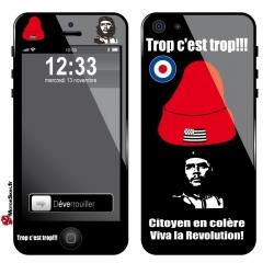 Sticker iPhone bonnet rouge