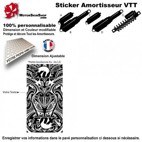 Sticker Amortisseur VTT FOX Tribal Bonbonne