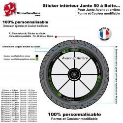 Sticker Intérieur Jante 50 à Boite Monster Energy