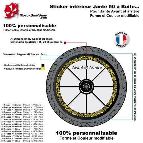 Sticker Intérieur Jante 50 à Boite Tribal