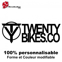 Sticker Twenty Bikes BMX