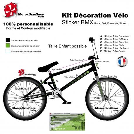 Kit décoration Vélo BMX Monster Energy Sticker complet