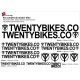 Sticker cadre BMX Twenty Bikes