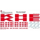 Sticker Kit cadre BMX Khe Taille XXl