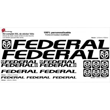 Sticker Kit cadre BMX Federal Taille XXl