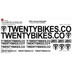 Sticker cadre Twenty Bikes BMX Taille XXl