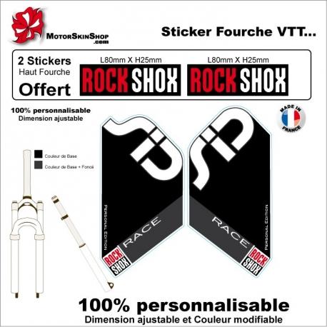 Sticker fourche Sid Rock Shox Race
