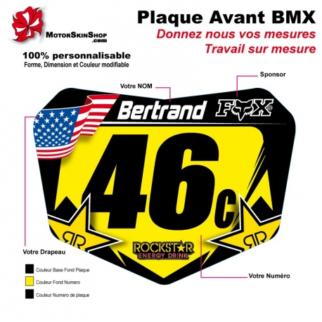 Sticker plaque BMX