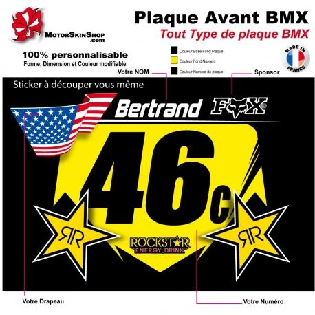 Sticker plaque BMX Dimension Universel
