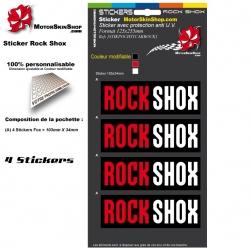 Planche Sticker Casque Rock Shox