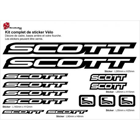 Sticker cadre vélo Kit Scott avec entourage