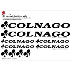 Sticker cadre vélo Colnago (new)