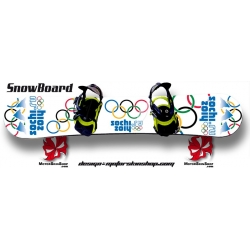 JO 2014 Sochi SnowBoard Personnalisable