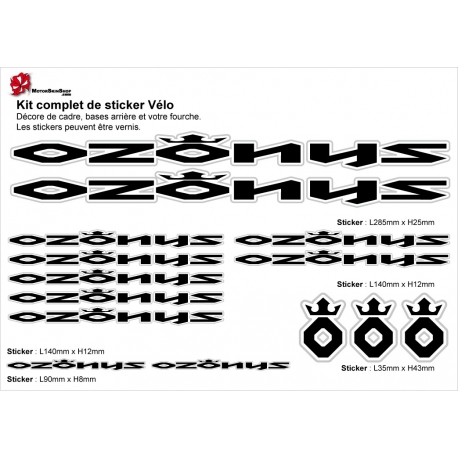 Sticker cadre Ozonys