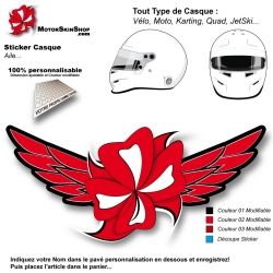 Sticker Décoration Casque MotorSkin Aile