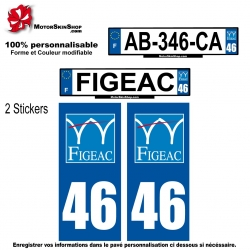 Sticker figeac plaque immatriculation