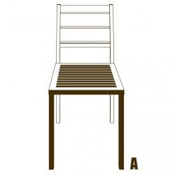 Sticker Chaise 3D vecteur