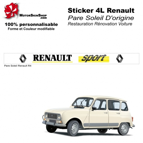 Sticker 4L Pare Soleil R4 Renault