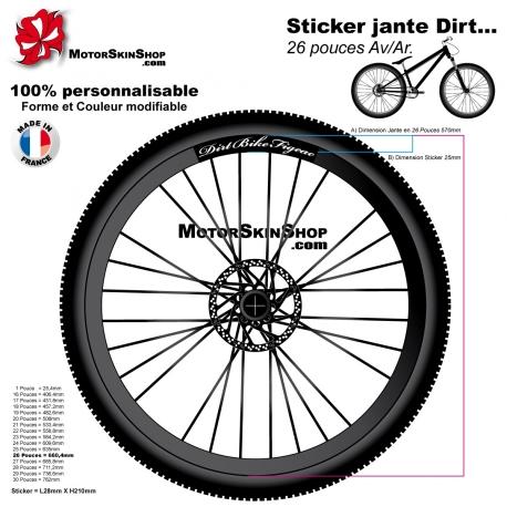 Sticker jante Dirt Bike Figeac VTT