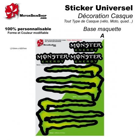 Sticker Autocollant décoration casque
