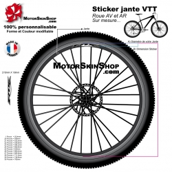 Sticker jante VTT Fox