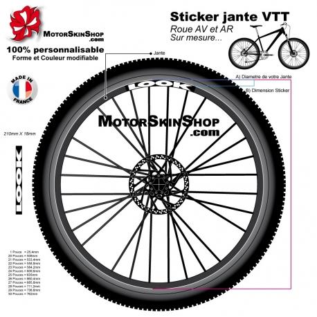 Sticker jante VTT Look