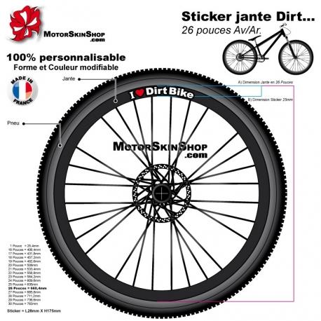 Sticker jante Dirt VTT I Love Dirt Bibe