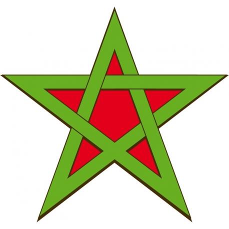Etoile drapeau Marocaine