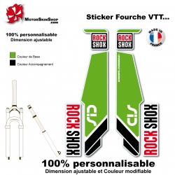 Sticker fourche Sid Rock Shox Forks Vert 2013