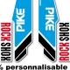 Sticker fourche Pike Rock Shox Bleu 2013