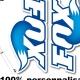 Sticker fourche FOX bleu ciel