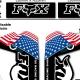 Sticker fourche Fox avec Drapeau VTT