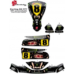 Kit déco Karting KG FP7 Motorskin Monster Energy