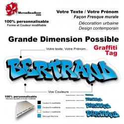 Sticker Prénom graffiti décoration mur urbain