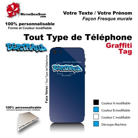 Sticker Prénom graffiti Téléphone