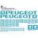 Sticker cadre Peugeot Vélo