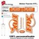Sticker fourche Fox Couleur VTT
