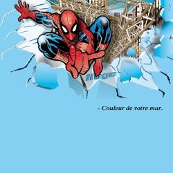 Décoration Géante Spiderman mur complet 3D Vecteur.